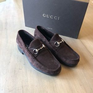 a612460ee49 Gucci Mens Shoes Classic Suede Horse Bit Loafer 9D
